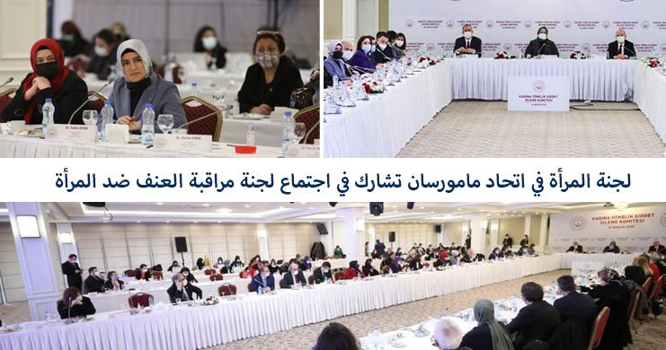 لجنة المرأة في اتحاد مامورسان تشارك في اجتماع لجنة مراقبة العنف ضد المرأة